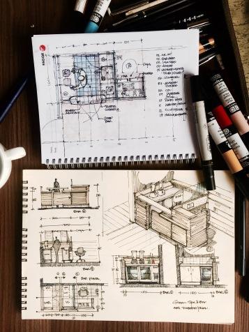 Green Bar Coffee Sketch 2