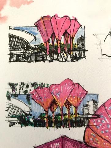 Vegas the Plaza pre sketch 1