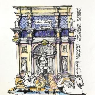 Caesars Fontana Sketch