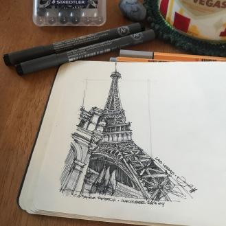 LasVegas-Paris 1 CoffeeSketch#14 Inktober