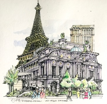 Paris in Vegas Sketch