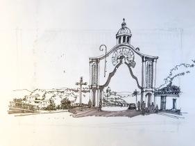 Arco Sta Rosa Sketch BW