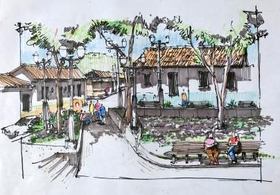 Sta Rosa Corner color Sketch