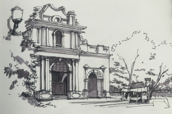 Iglesia Sta Rosa Sketch