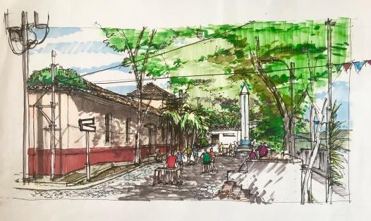 Alley Futbol Sketch
