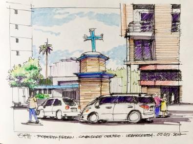 Plaza Cruz Sketch
