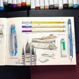 Travel Sketchbook 01