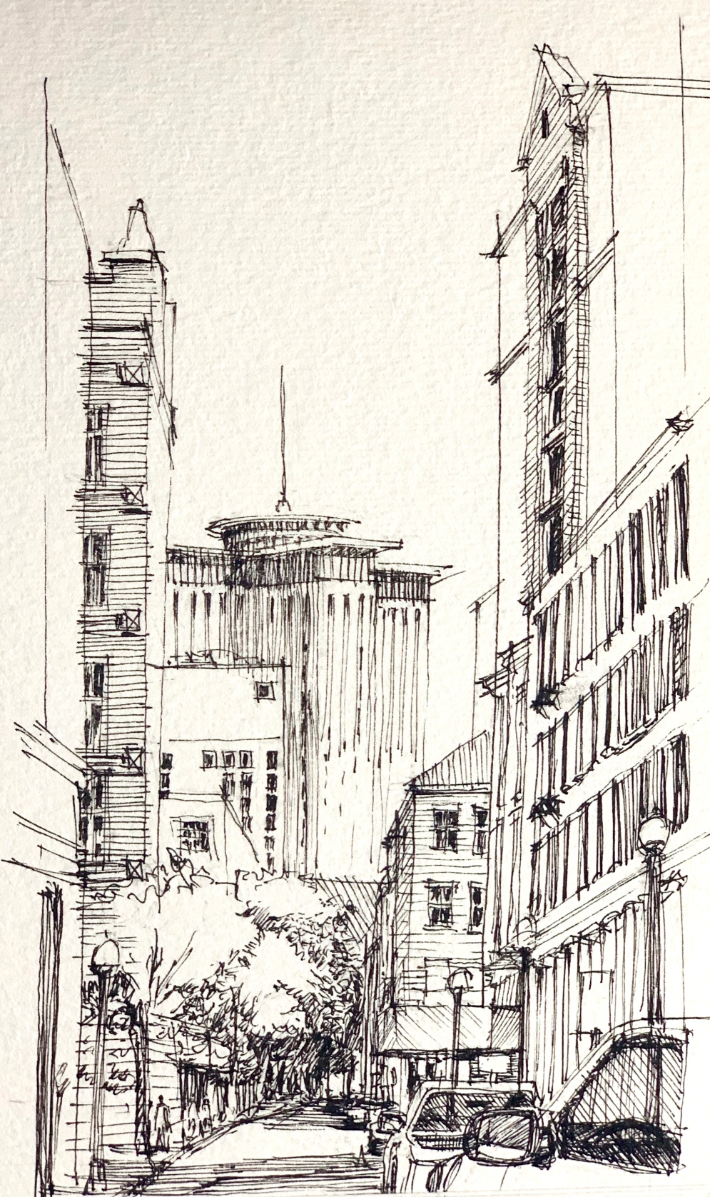 nola dowtown sketch