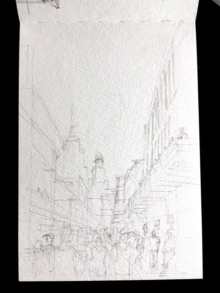 Bourbon Street Pre Sketch