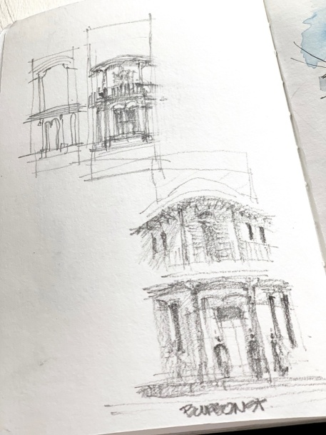 Bourbon Corner Pre sketch