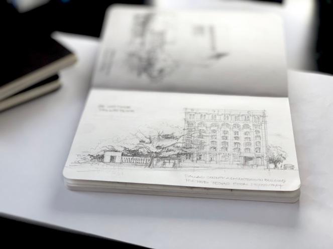 Dallas Downtown 1 Oswald Sketch